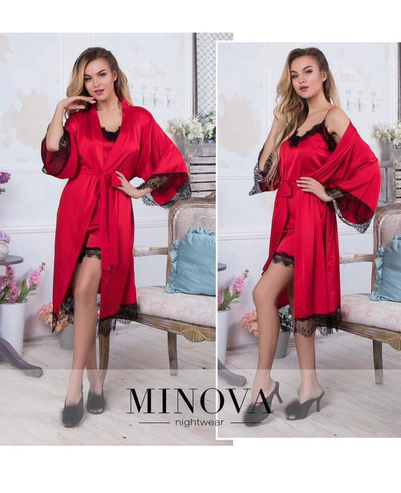 Пижамный комплект 3-ка №931-красный