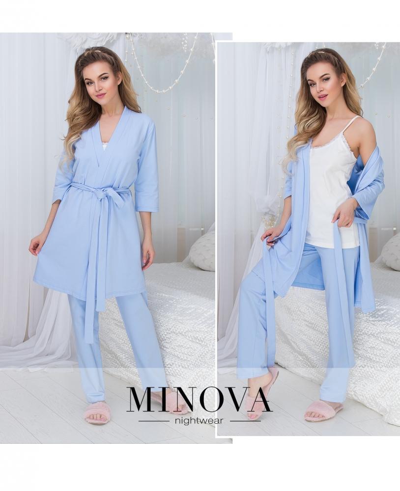 Пижамный комплект №927-голубой