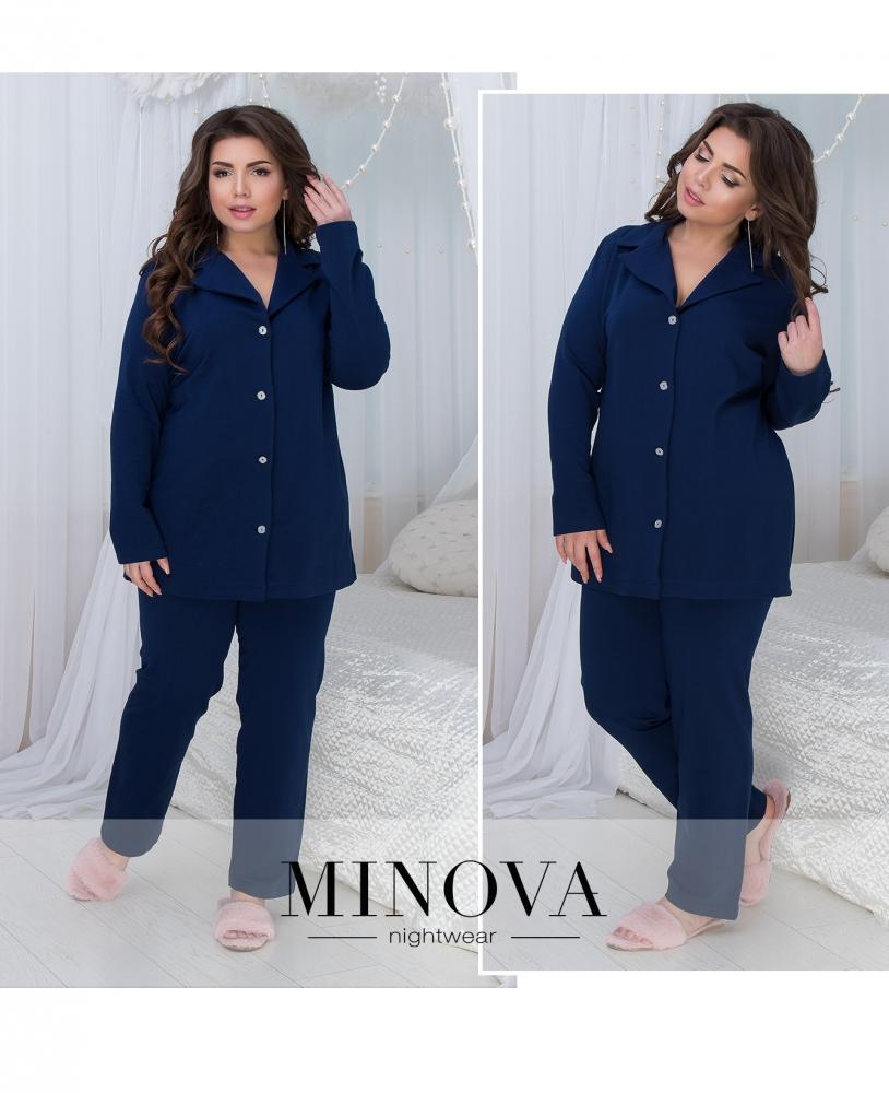 Пижама №824-темно-синий