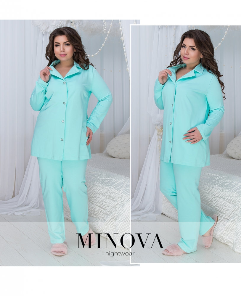 Пижама №824-мята
