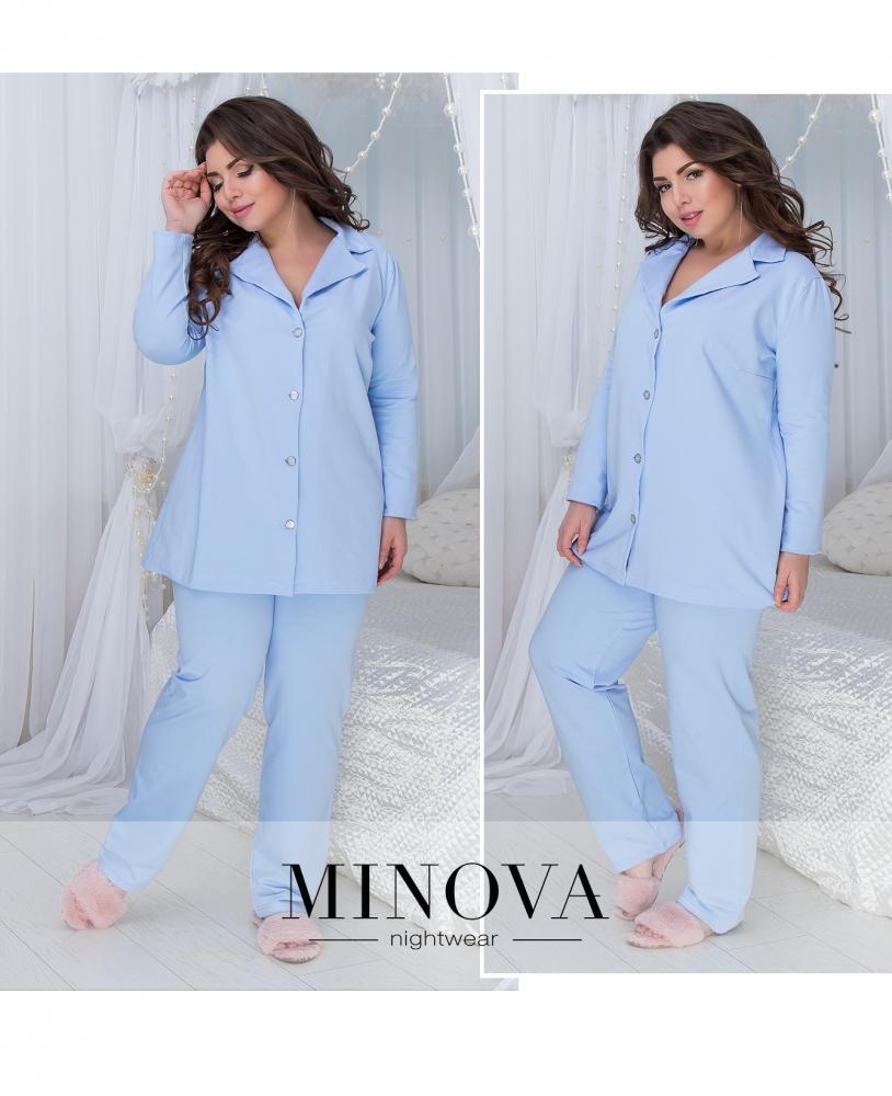 Пижама №824-голубой