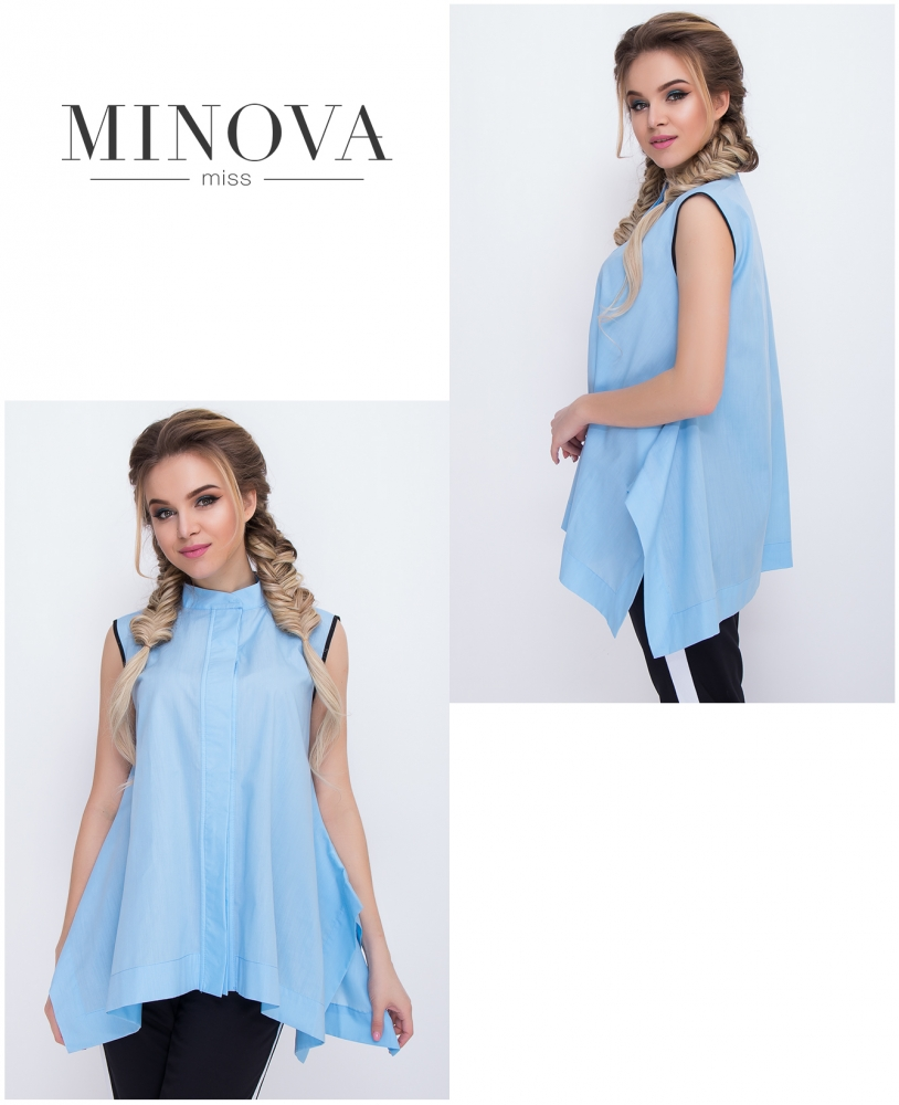 Блуза №3025.16-голубой