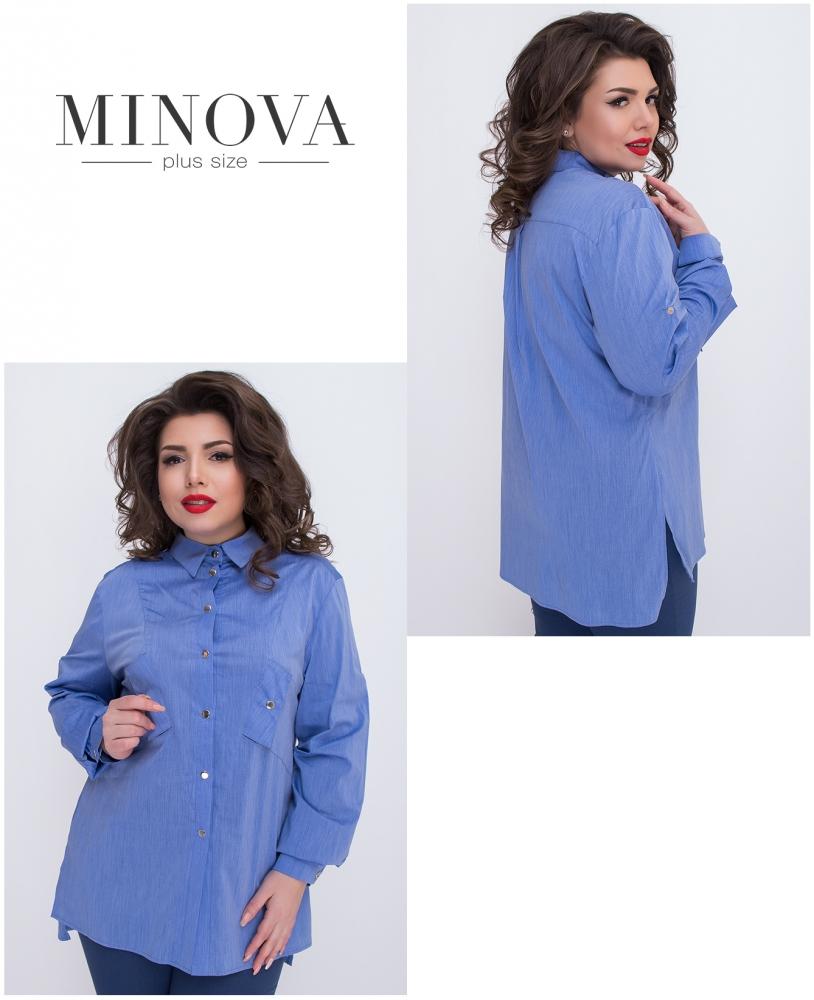 Рубашка №474-голубой