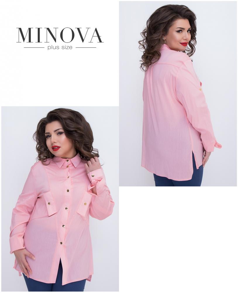 Рубашка №474-розовый