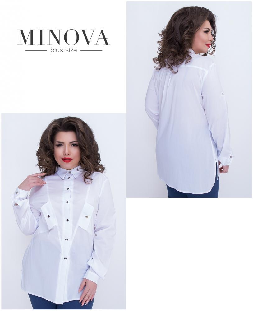 Рубашка №474-белый