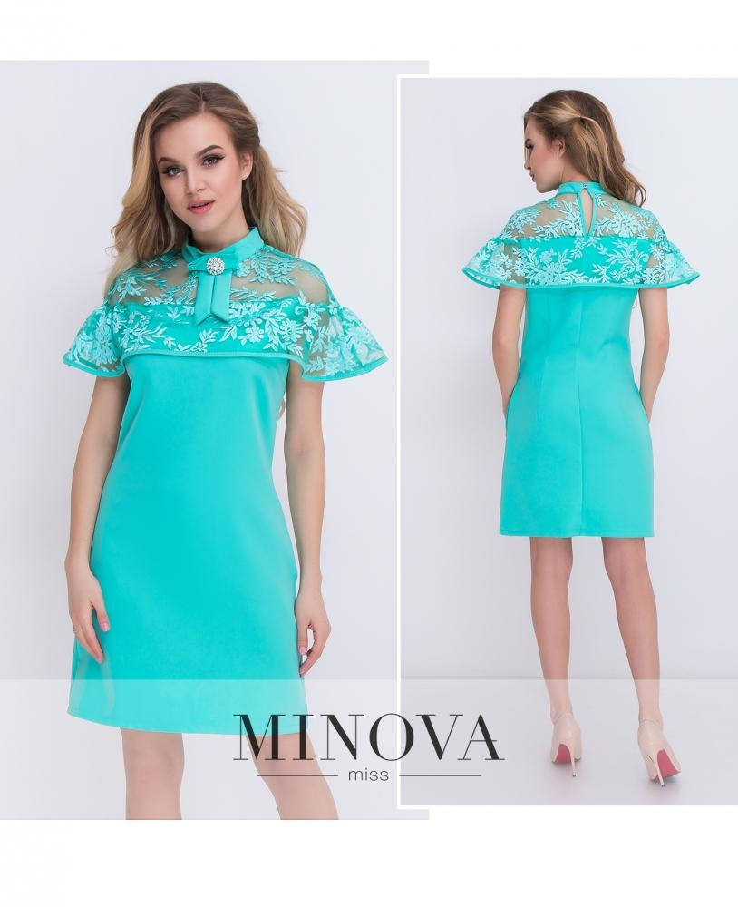 Платье №088-мята_minova_1