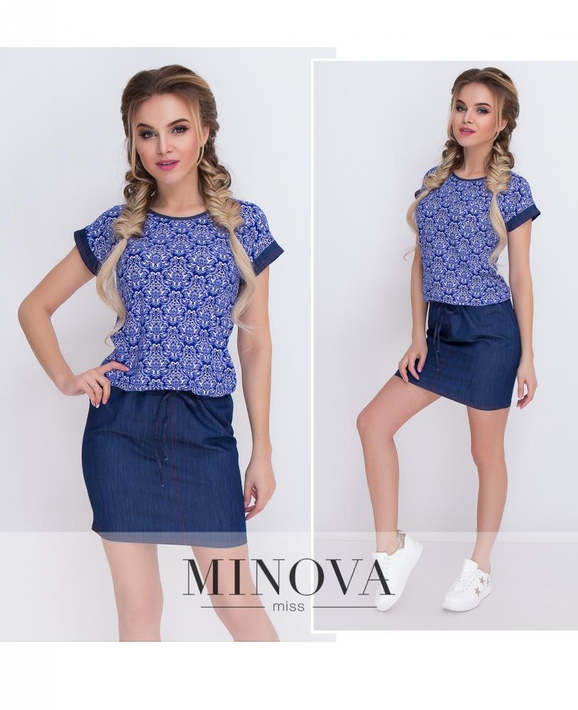 Платье №097-синий (sale)