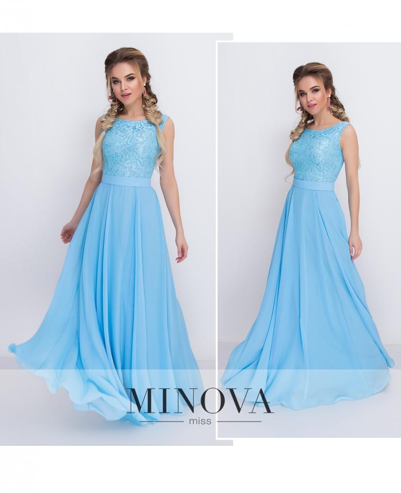 Платье №3096-голубой (sale)