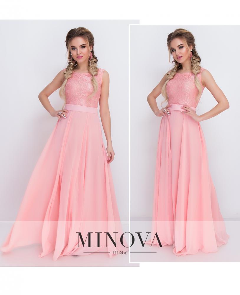 Платье №3096-персик (sale)