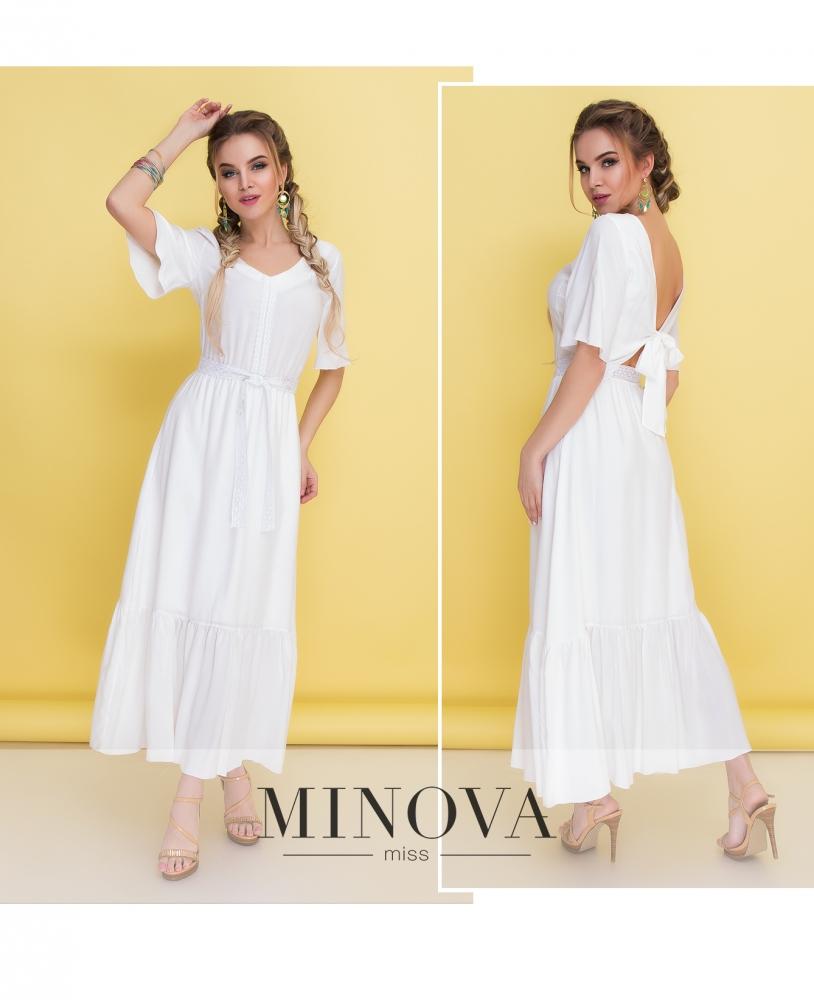 Платье №1350-белый