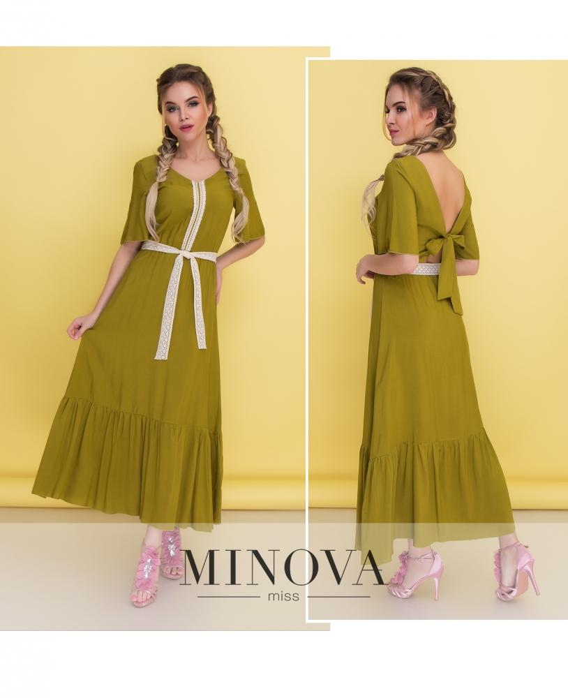 Платье №1350-оливка