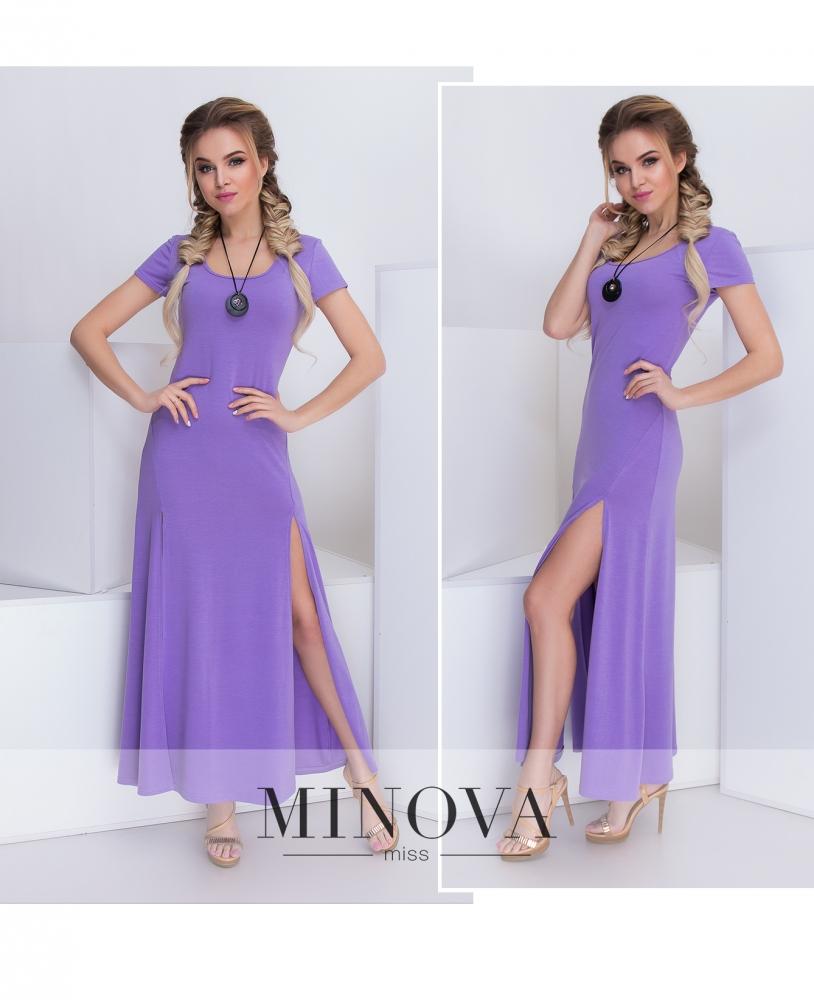 Платье №1330-сиреневый (sale)