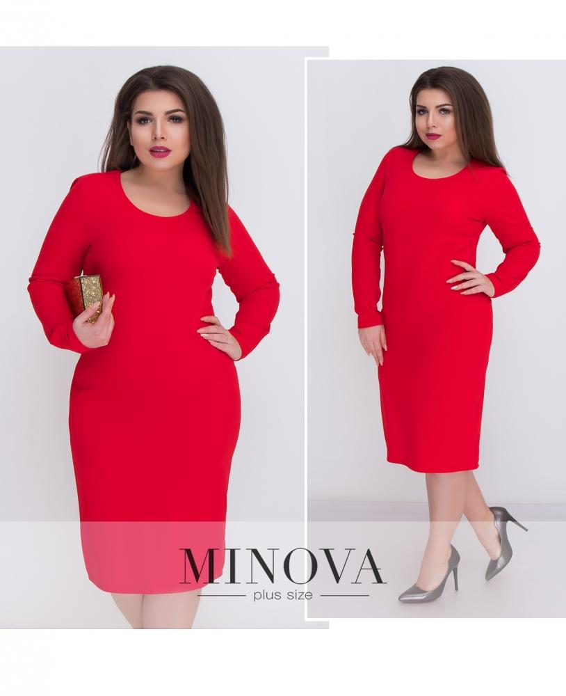Платье №5084.21Б-красный (sale)