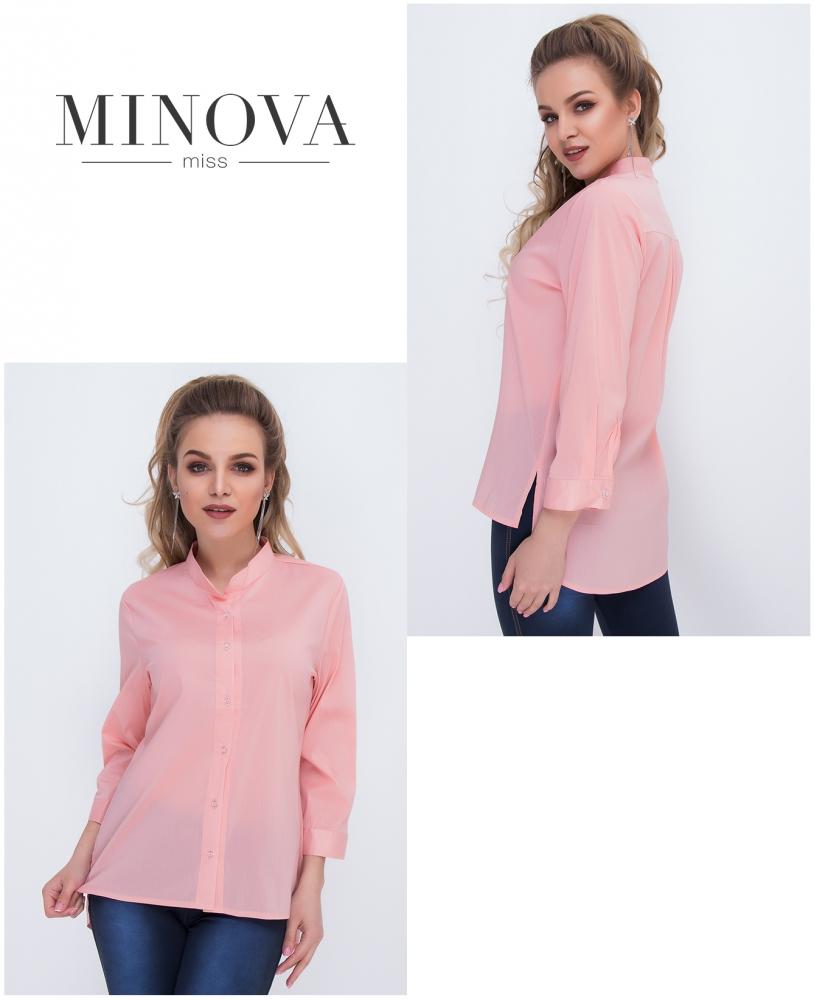 Рубашка №1036-персиковый