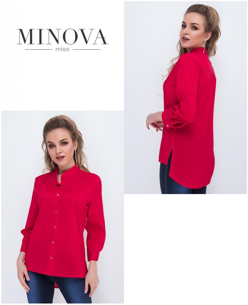 Рубашка №1036-красный