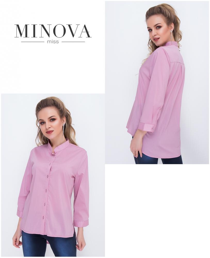 Рубашка №1036-пудровый
