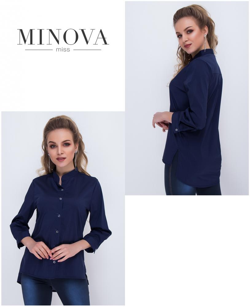 Рубашка №1036-синий