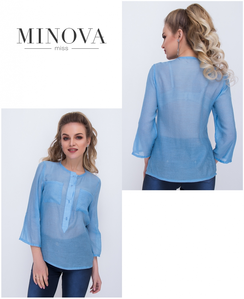 Рубашка №1039-голубой