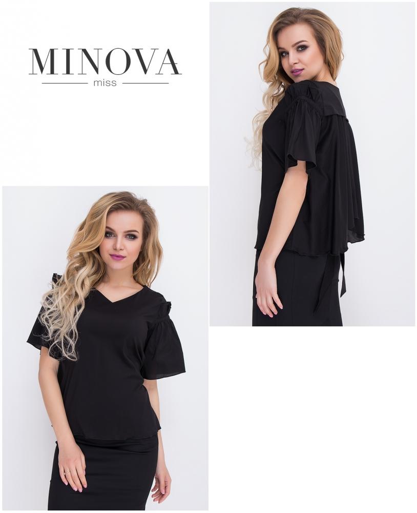 Блуза №8562-черный