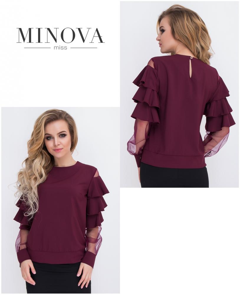 Блуза №8579-марсала