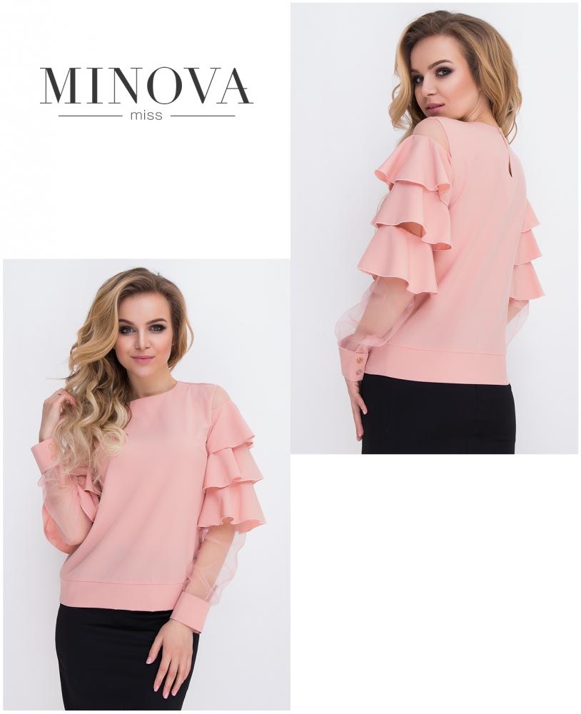 Блуза №8579-пудра