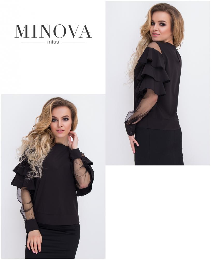 Блуза №8579-черный
