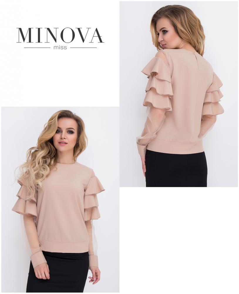 Блуза №8579-капучино