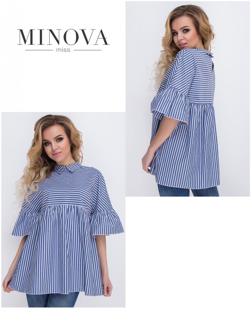 Блуза №480-синий