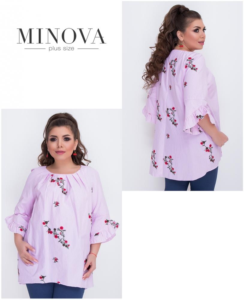 Блуза №486-розовый