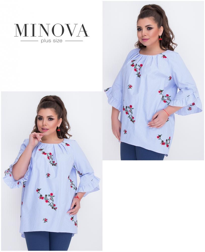 Блуза №486-голубой