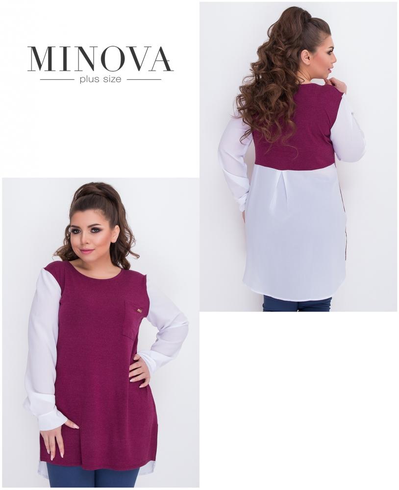 Блуза №1559-бордо