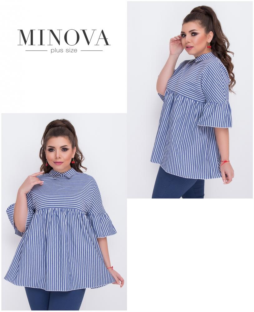 Блуза №480-1-синий