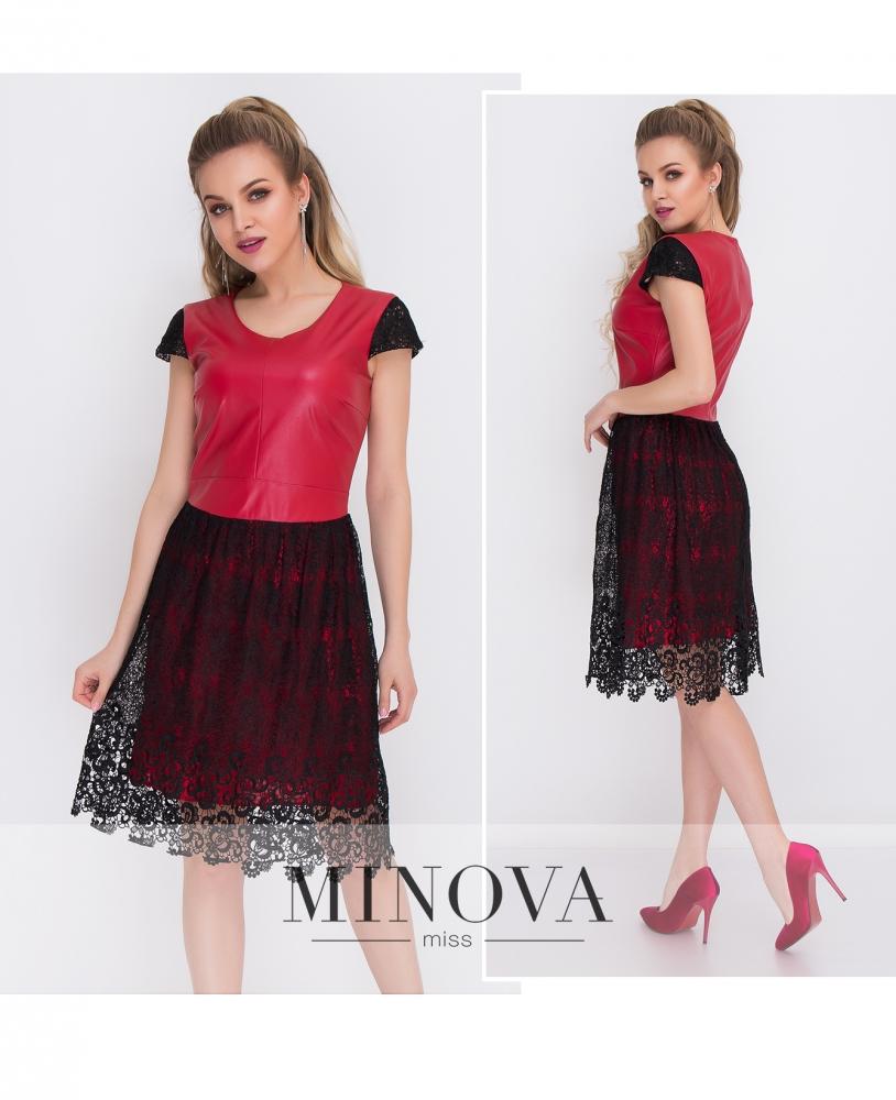 Платье №1023-красный