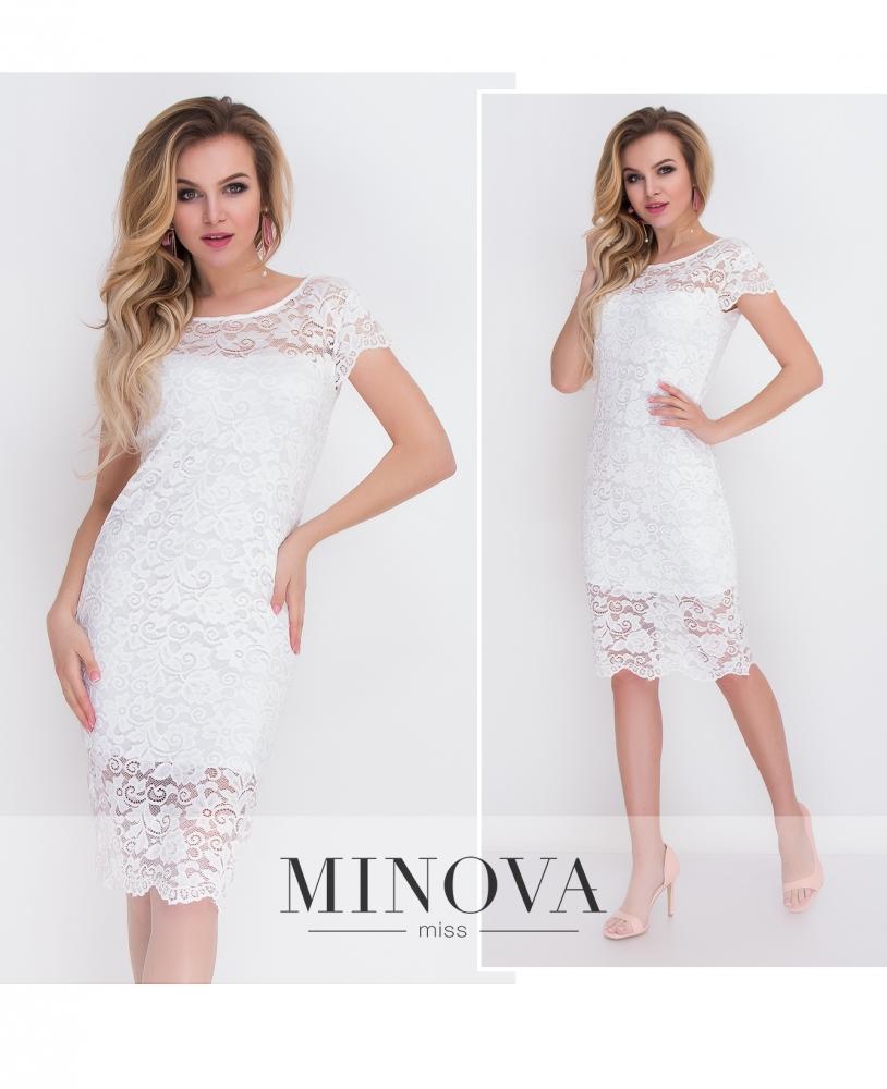 Платье №7069-белый