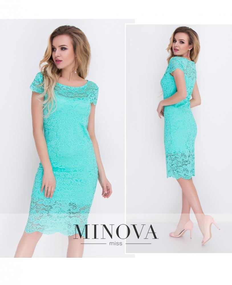 Платье №7069-мята