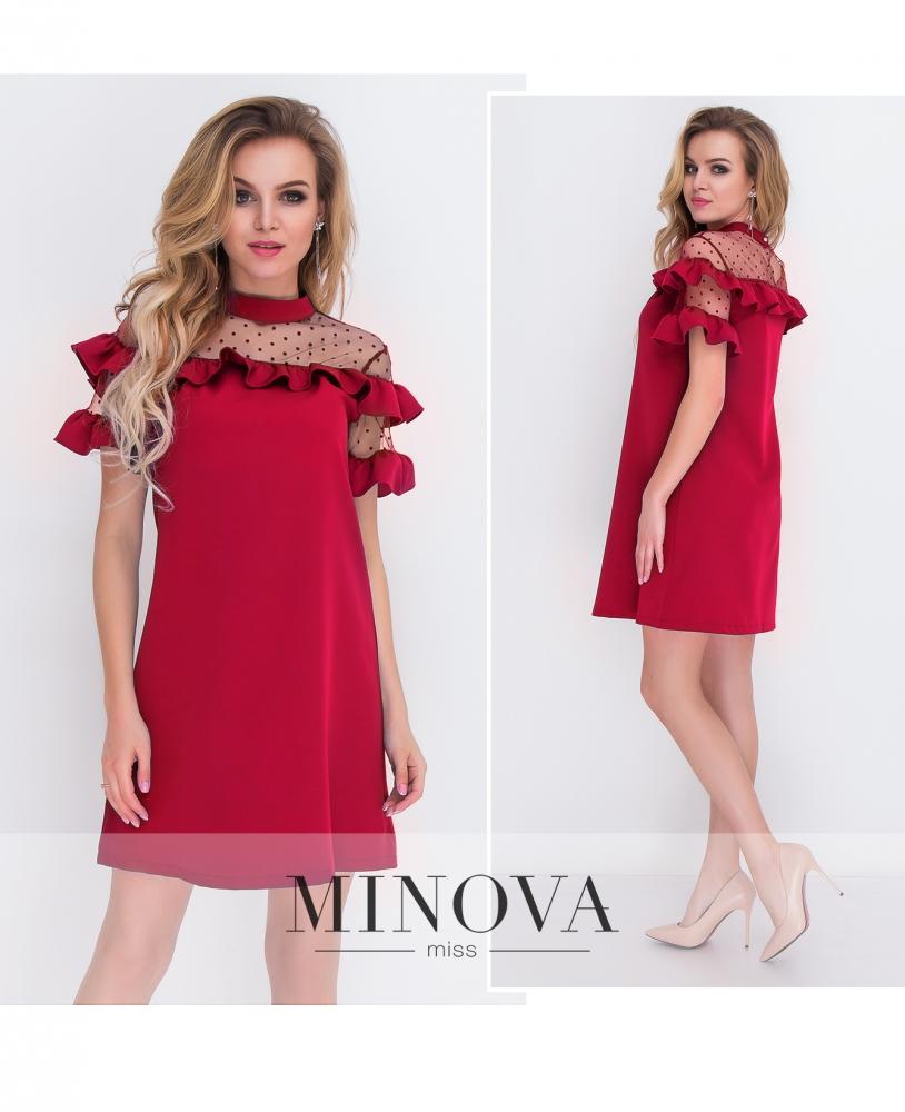 Платье №8577-красный