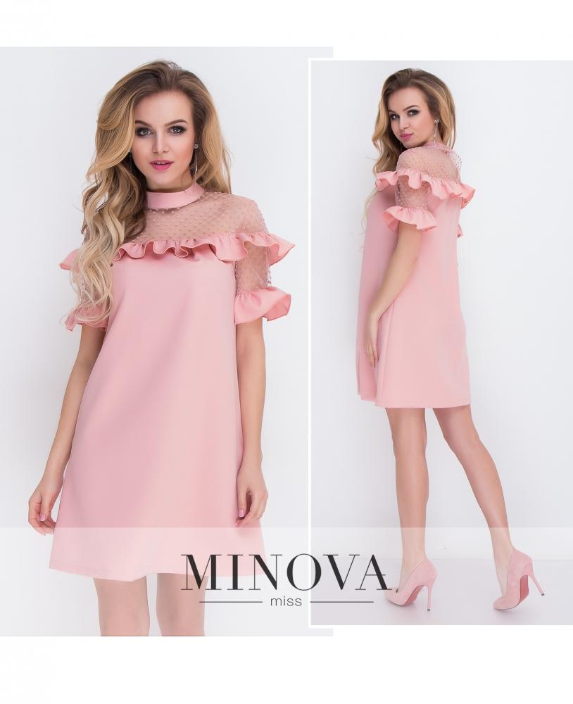 Платье №8577-пудра