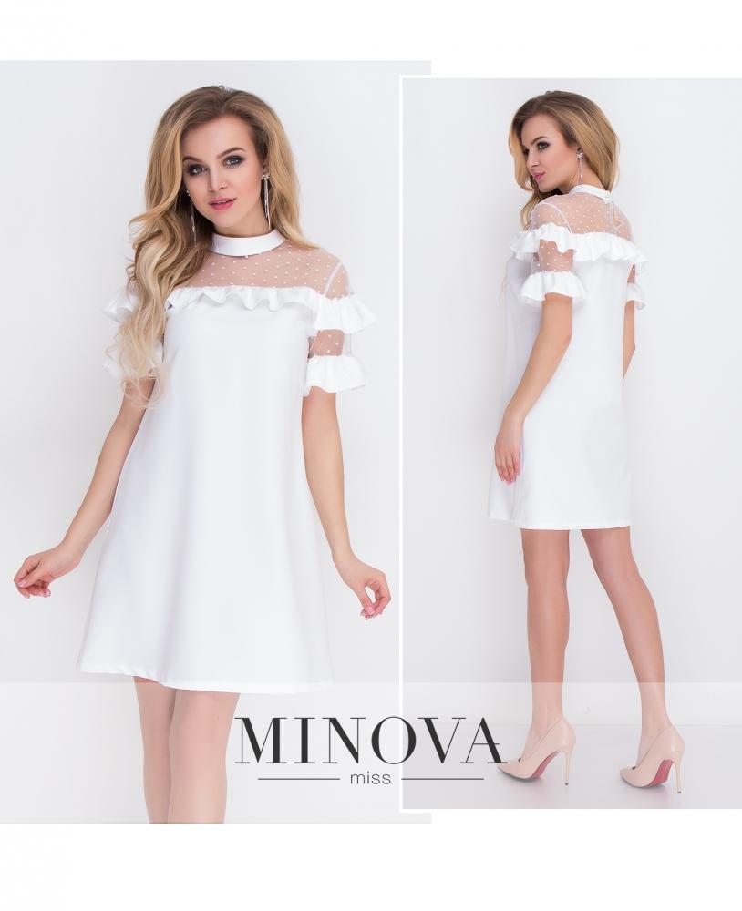 Платье №8577-молочный