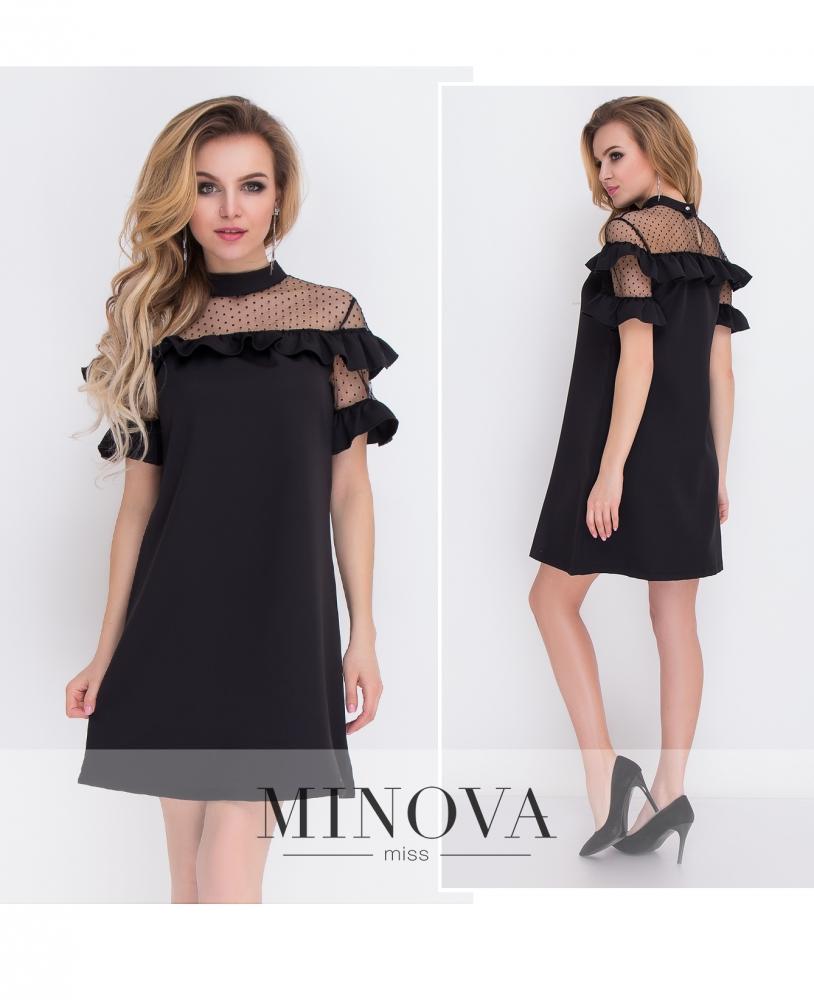 Платье №8577-черный