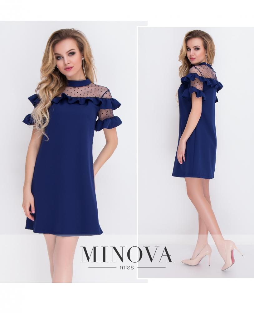 Платье №8577-темно-синий_minova_1