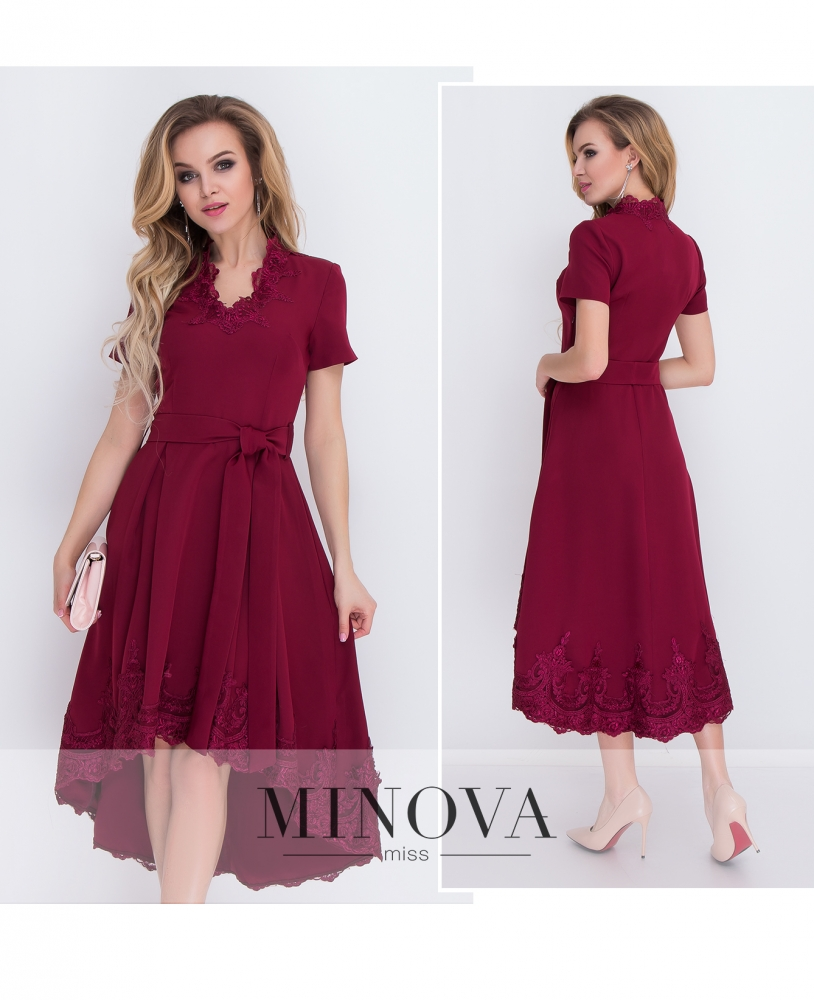 Платье №8575-бордо_minova_1