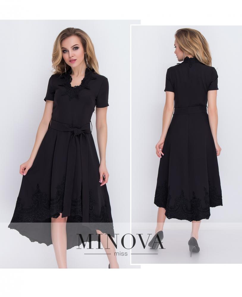 Платье №8575-черный