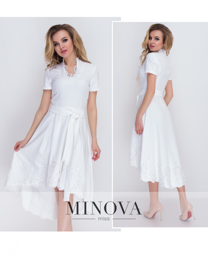 Платье №8575-белый