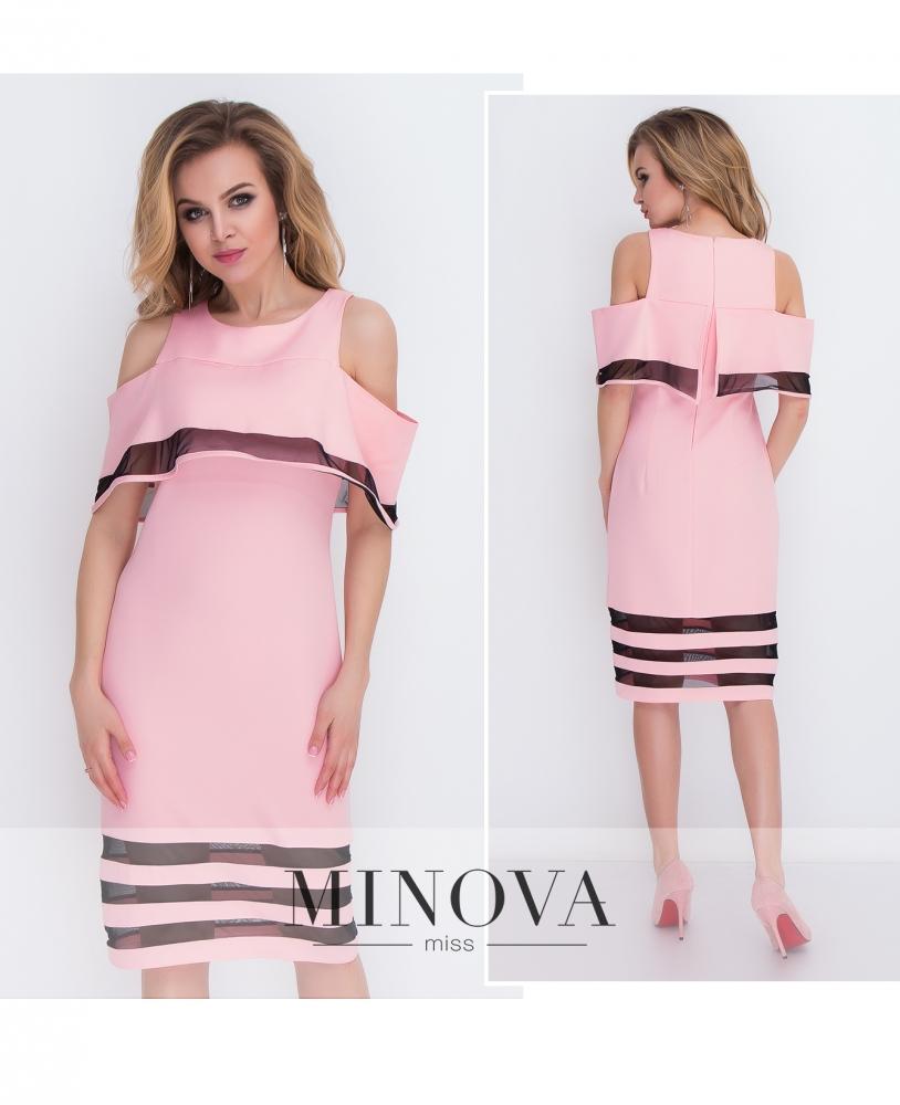 Платье №8576-пудра