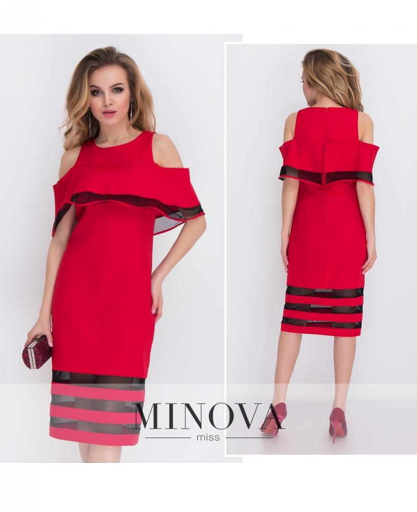 Платье №8576-красный