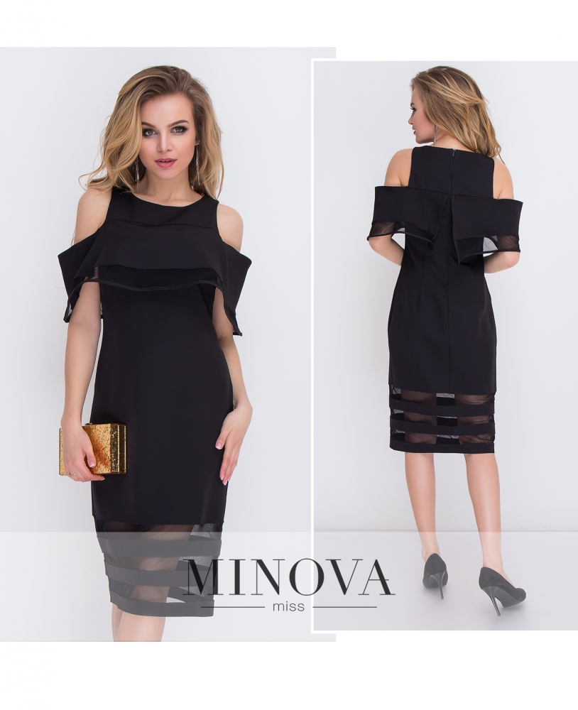 Платье №8576-черный