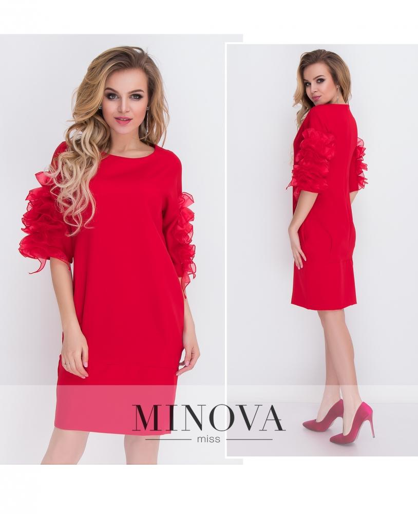 Платье №8574-красный_minova_1