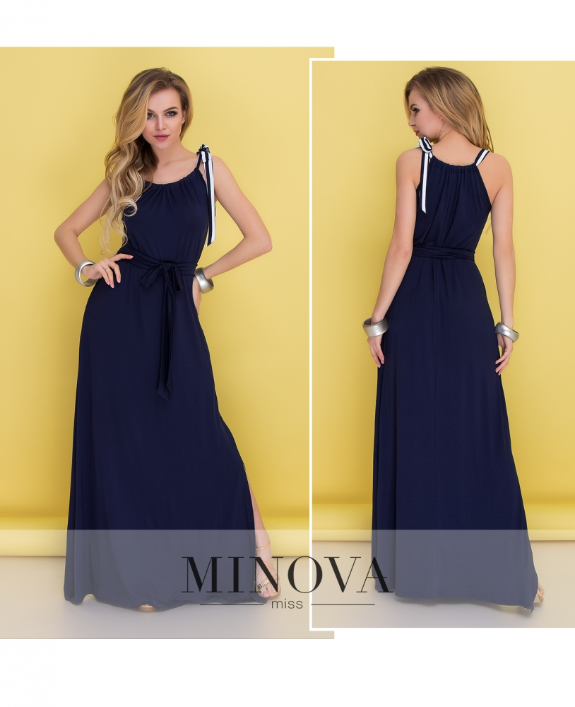 Платье №482-синий