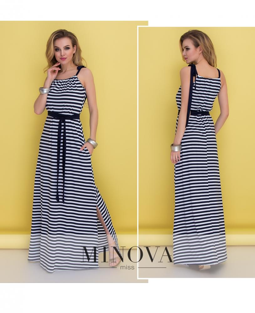 Платье №482-полоска