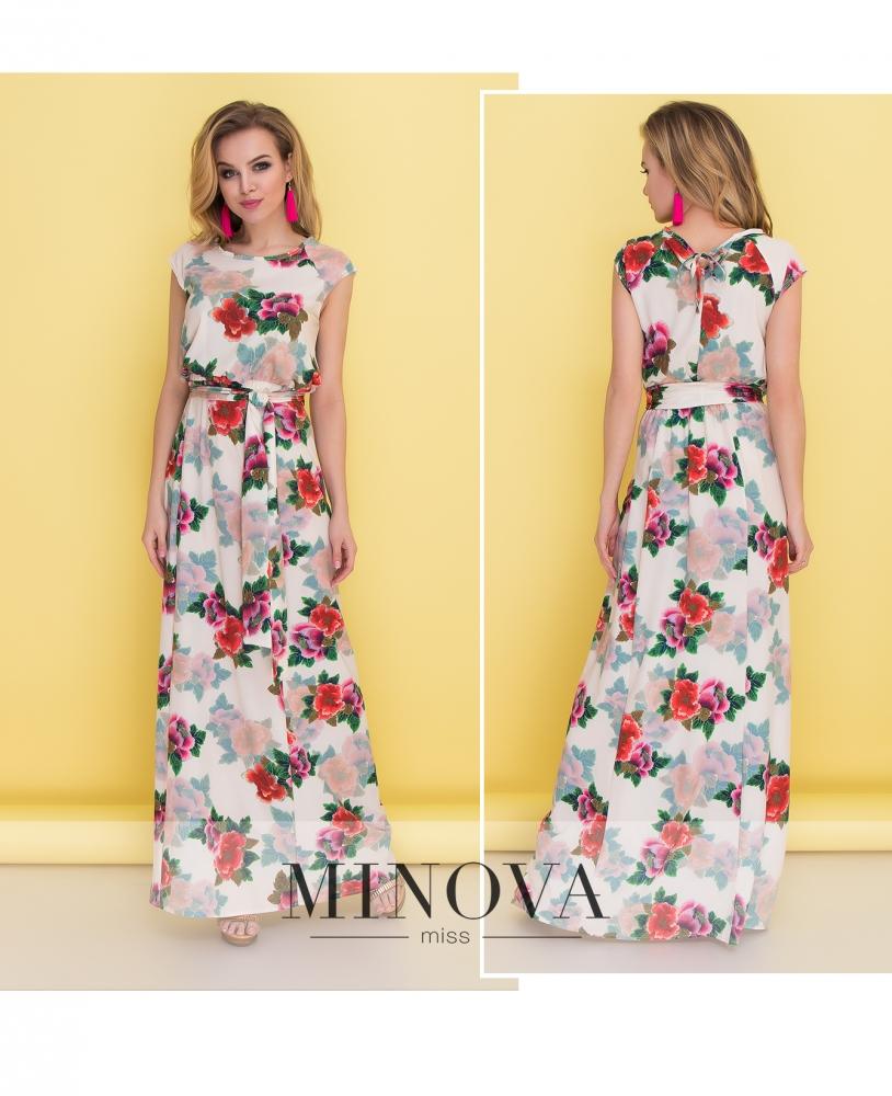 Платье №1370-беж